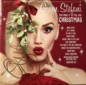 AUTOGRAPHED-Gwen-Stefani-You-Make-It-Feel-Like-Christmas-Signed-CD-Booklet