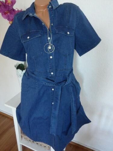 106 Sheego Kleid Jeanskleid Tunika blau weicher Stoff