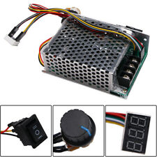 US Ship 10-50V 40A PWM DC Motor Speed Controller CW CCW Reversible Plus Driver