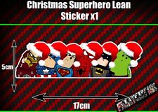 Christmas Superhero Lean Sticker Funny Novelty Decoration festive tinsel car van