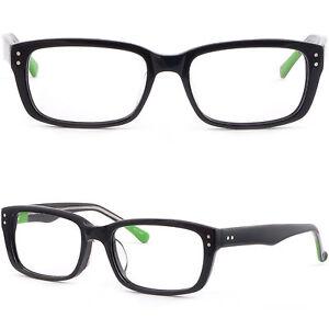 Eyeglass Frame Pieces : Square Men Women Acetate Plastic Frame Prescription ...