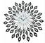 Large-Diamond-Peacock-Style-Metal-Wall-Clock-60-cm thumbnail 1