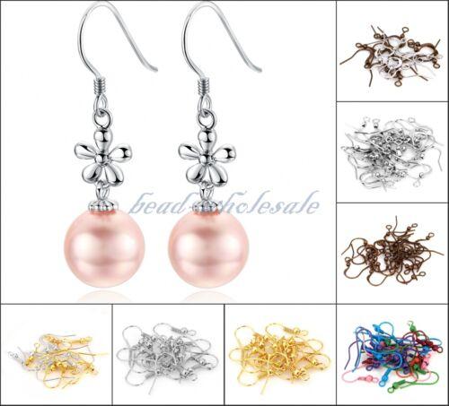 Wholesale Lots 100 pcs Earring Hook For Jewelry Making Findings DIY 19mm