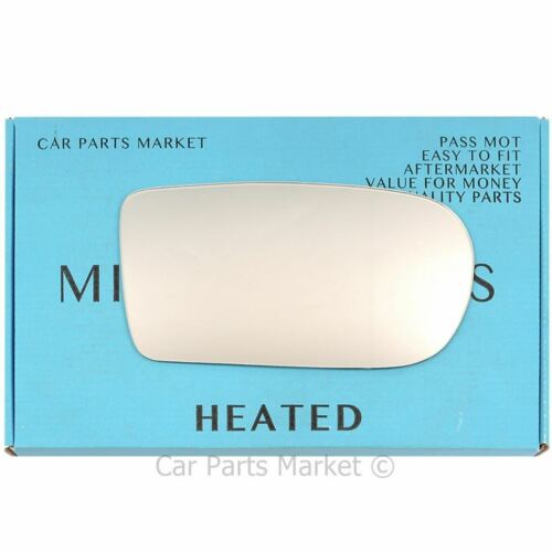 Right side Flat Wing door mirror glass for Mazda 323F 1994-1998 heated manual
