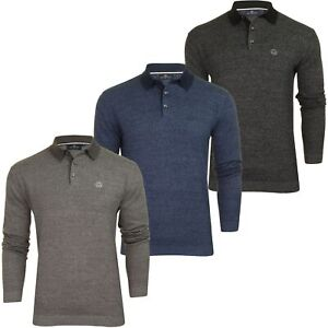 Duck-and-Cover-Mens-039-Cartwright-039-Knitted-Polo-Shirt-Long-Sleeved