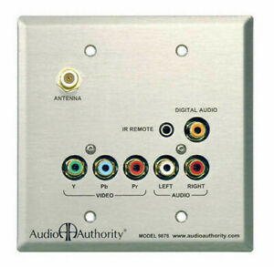 Audio-Authority-9878-Cat-5-HDTV-Stainless-Steel-Wallplate-Zone-Receiver