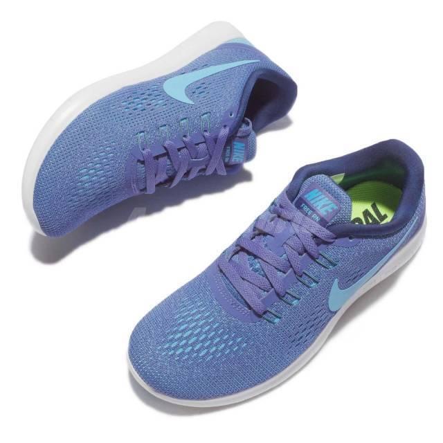 Women's Nike Free Running shoes bluee Moon Polarized bluee Coastal bluee Size 8.5