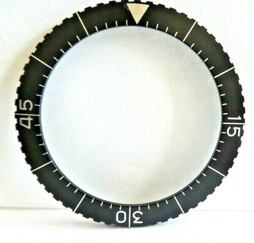 "HEUER MILITARY /""BUND/"" Flyback chronograph 1550 SG BLACK BEZEL ONLY 56"