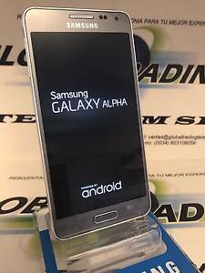 TELEFONO-SAMSUNG-GALAXY-ALPHA-G850F-4G-32GB-GRIS-PLATA-IMPECABLE-GRADO-A