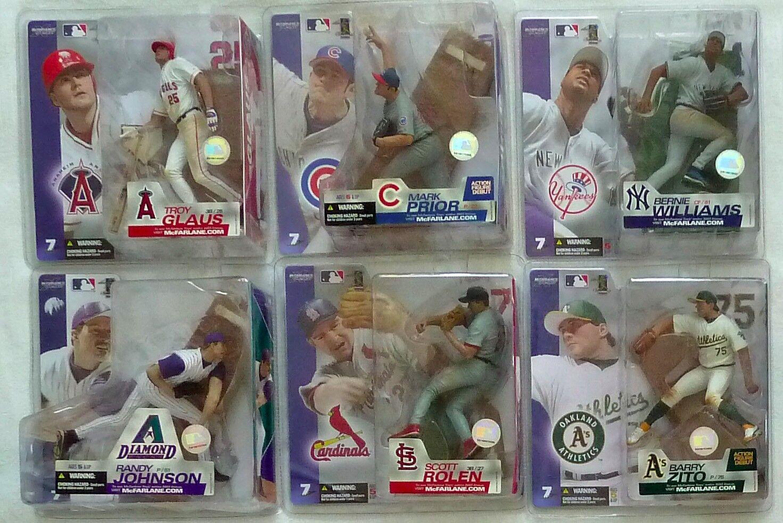 McFarlane MLB 7 COMPLETE SET Glaus, Johnson, Prior, Rolen, Williams, Zito