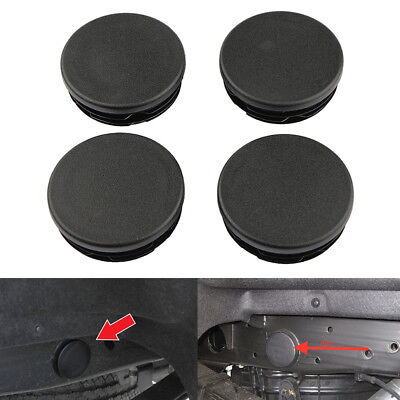 4PCS Frame Tube Plugs Rear Wheel Well For 99-17 Chevy Silverado GMC Sierra 1500