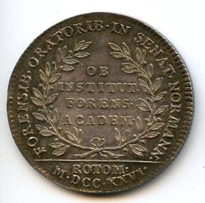 Louis-XV-Normandie-Academie-de-Rouen-Jeton-argent-1726-Feuardent-6117