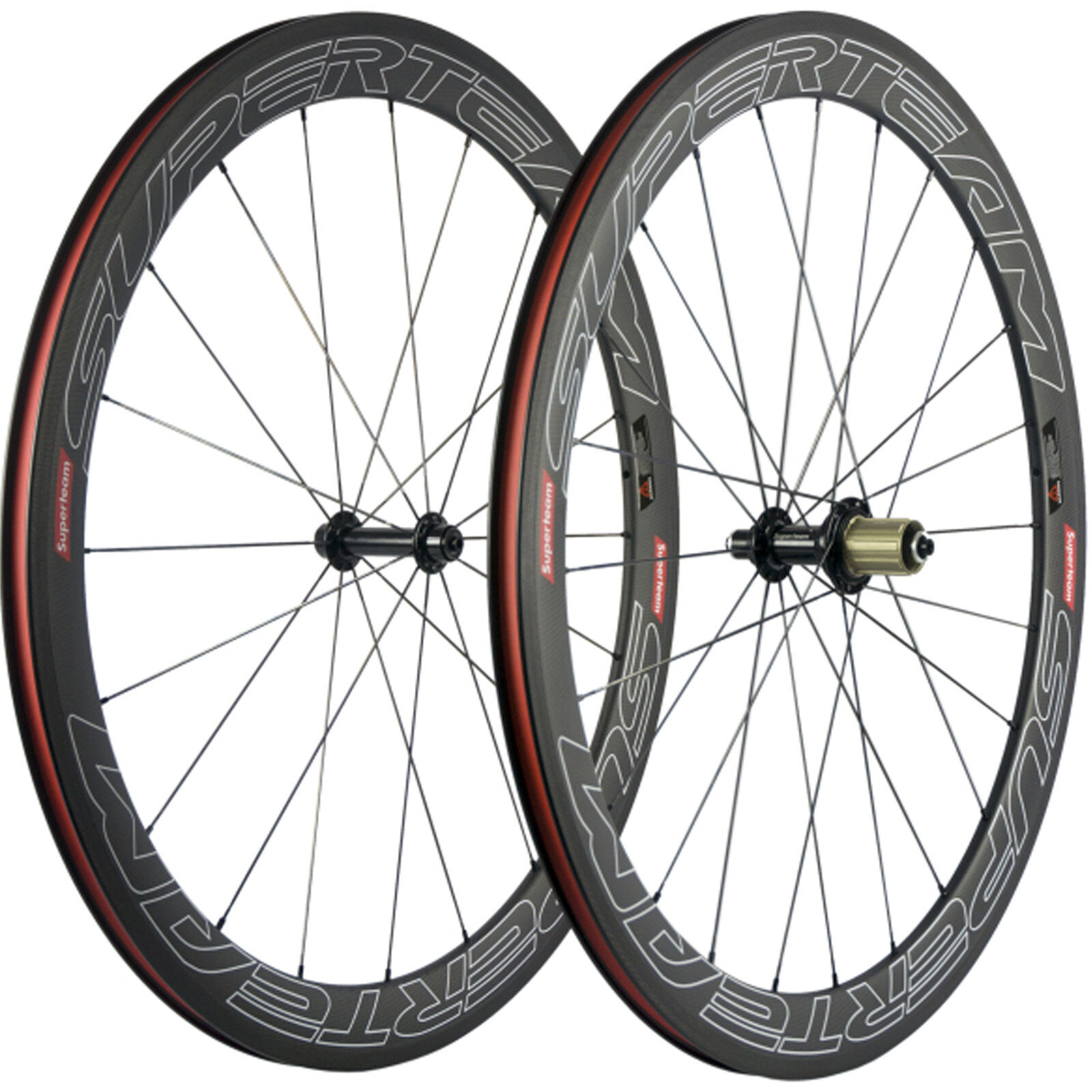 SUPERTEAM  50mm Carbion Clincher Wheels Ceramic R13 Hub Carbon Road Wheels Bike  up to 60% discount