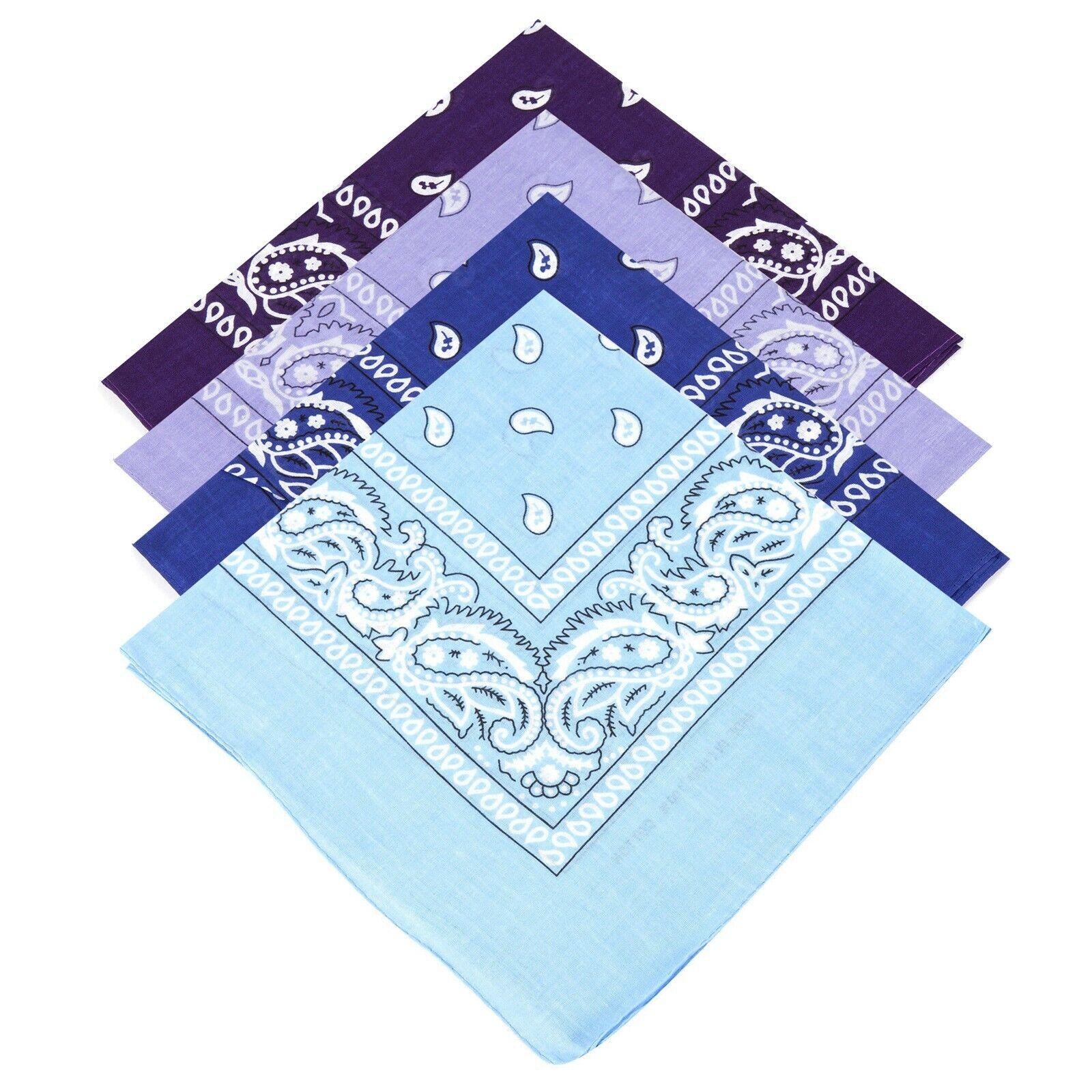 Unisex Paisley Bandana BABY BLUE