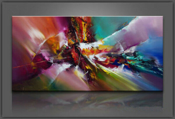 Oil Painting on Canvas Art Large Abstract Picture Wall Decor 24x48 (No Frame)