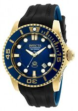 Invicta Pro Diver Automatic Blue Dial Black and Darlk Blue Polyurethane Mens
