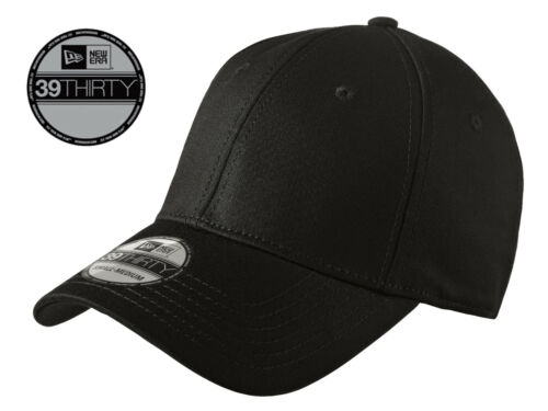 Free Shipping New Era 39Thirty Blank Stretch Cotton fitted Black Hat//Cap NE1000