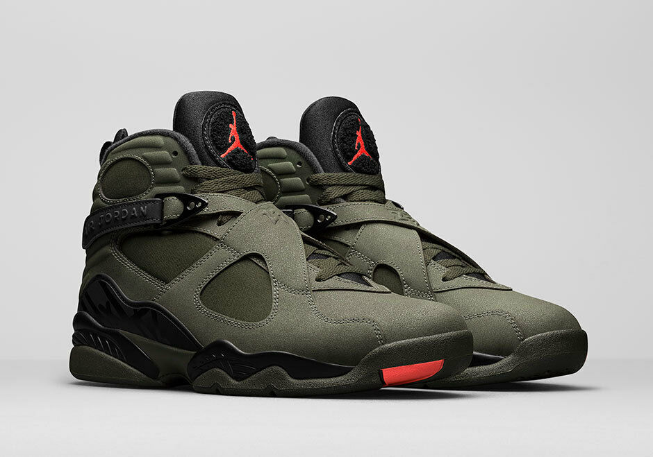 2017 Undefeated Nike Air Jordan 8 VIII Take Flight Olive Undefeated 2017 Size 7y. 305368-305 7 2af42a