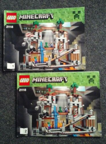 LEGO Minecraft The Mine 21118 Instructions NO BRICKS Manual NEW READ description