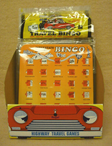 NEW #ZREG-1920 CASE OF 36 PCS REGAL TRAVEL BINGO GAME ASSORTMENT
