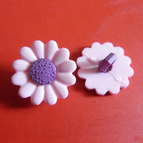 20 Fleur Daisy Craft Kid Girl Sweater À faire soi-même Sac fantaisie à coudre les boutons de rose D45