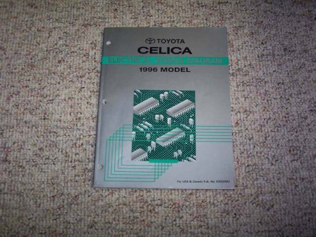 1996 Toyota Celica Electrical Wiring Diagram Manual St Gt