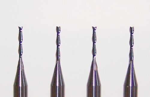 "10 wood cut fishtail end 2 FLUTE MICRO CARBIDE ENDMILLS .0394/"" 1.00mm"
