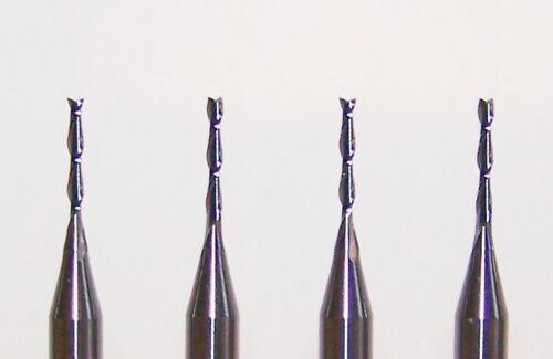 "10 wood cut fishtail end 2 FLUTE MICRO CARBIDE ENDMILLS .0394/"" 1.00mm"