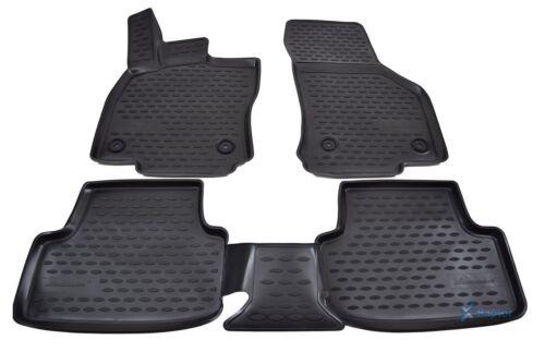 3D Gummifußmatten Gummimatten für Seat Leon ab 2012 4-tlg Set
