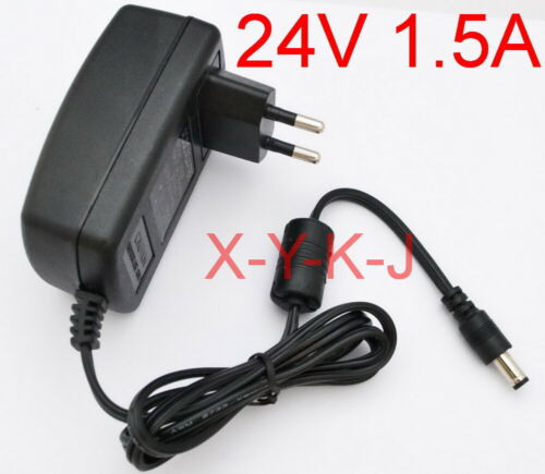 AC supply DC 24V 1.5A Switching power adapter EU Wall plug DC 5.5mm 1500mA 36W