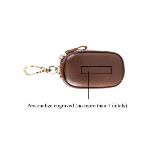 Genuine Leather Key Case Wallet Men Women Car Key Holder Ring Chain Bag Vintage