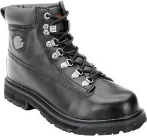 d767dab5af340f Original Harley Davidson Men s Steel Toe Drive Black Leather Riding ...