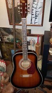 Regal RD10-VB Steel 6 String Acoustic Guitar Sunburst *RARE*