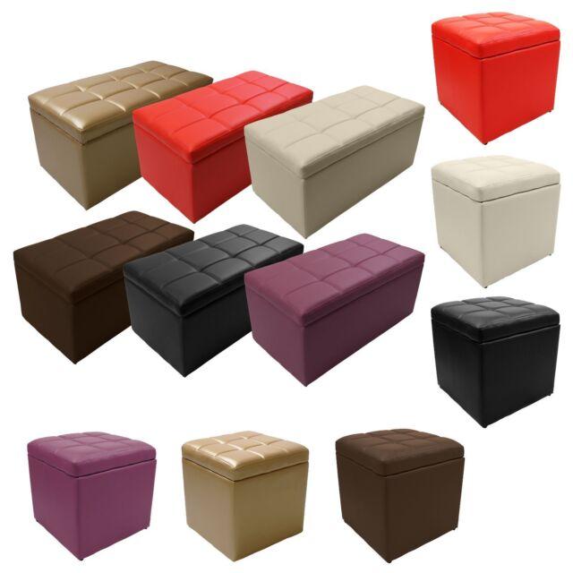 Phenomenal Unfold Leather Storage Ottoman Bench Footstool Seat Cocktail Coffee End Table Inzonedesignstudio Interior Chair Design Inzonedesignstudiocom