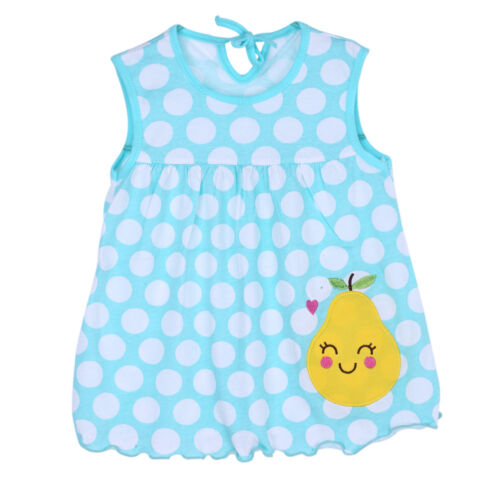 Newborn Baby Floral Cotton Blend Vest Dress Girls Sleeveless T-Shirt Top Clothes