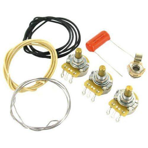Jazz Bass Wiring Kit 250k CTS SPRAGUE orange Drop .047m Switchcraft fit Fender ®