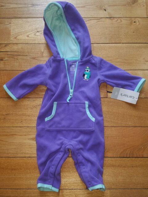 e8fa7647a Girls Carters Pink Dot Cat Soft Fleece Snap up Pajamas Size 24 ...