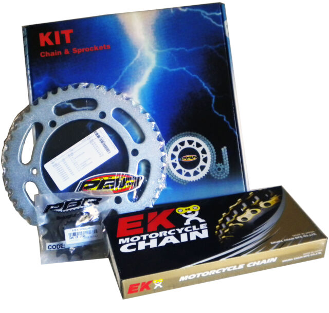 PBR / EK CHAIN & SPROCKETS KIT 520 PITCH COMPATIBLE FOR TM EN 400 F EN-F 2002