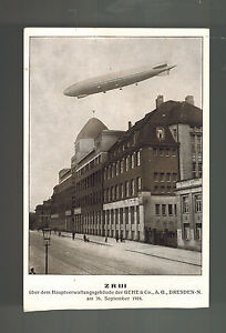 1924 Original Mint Cppr ZR 3 Zeppelin Over Dresden Véritable Photo Carte Postale nj1qERaU-08052004-557427361