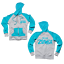 Zumba Aqua Fermeture Éclair Sweat à capuche Scuba bleu//gris heather Taille Moyenne