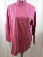All American Comfort Mock Turtleneck Shirt Top Long Sleeve L Brand Free Ship