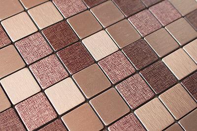 Sample Light Purple&Beige Particle Metal Surface Self Adhesive Mosaic Tile