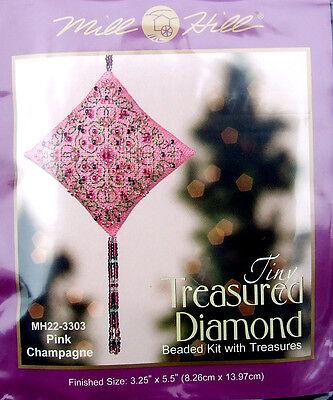 Mill Hill Cross Stitch Bead Kit Christmas Diamond 'Pink Champagne' 22-3303