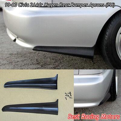 Mu-gen Style Rear Bumper Aprons (Urethane) Fits 99-00 Honda Civic 2dr