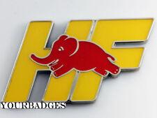 Enamel Lancia HF Red Elephant Car Badge Delta Intergrale Evo Elefantino Rosso