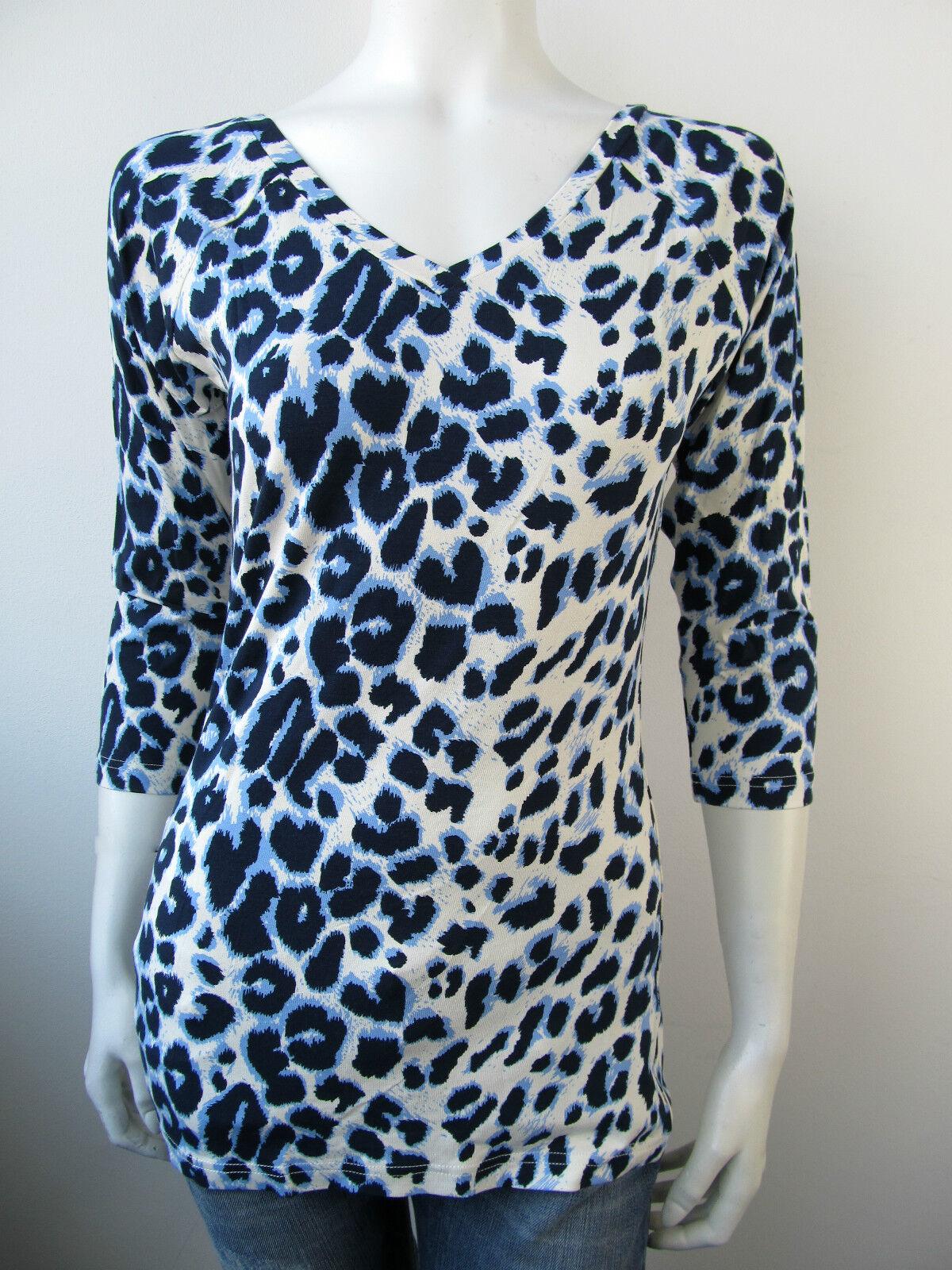 Juffrouw JANSEN T-shirt tee shirt top Animal Motif Panther 164 010 730 NEUF L XL