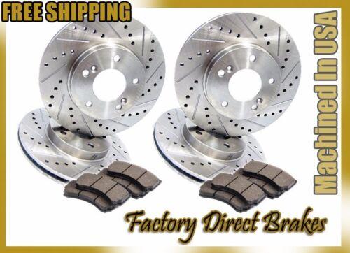 Premium Line Front /& Rear Drilled /& Slotted Brake Rotors /& Ceramic Pads