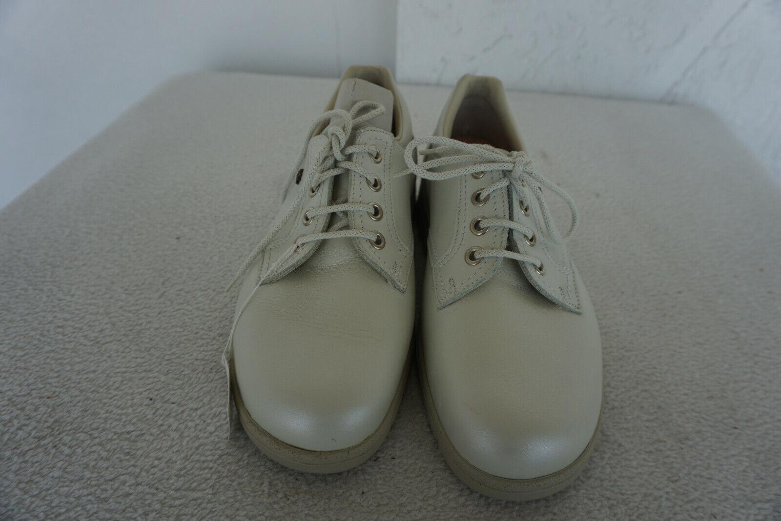 FINN COMFORT Modena Schuhe Schnürschuhe m Einlagen Gr.4,5   37,5 Leder Creme NEU