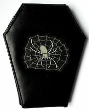 COFFIN WALLET Purse spider web punk rock gothic pagan emo retro alternative oi