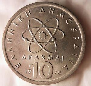 1978-Grecia-10-Drachmai-Excelente-Vintage-Moneda-Ganga-Bin-140